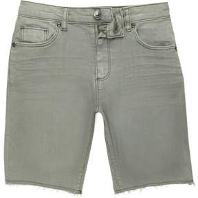 River Island Boys green Dylan slim fit denim shorts