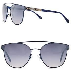 Balmain Browbar 62mm Metal Frame Sunglasses
