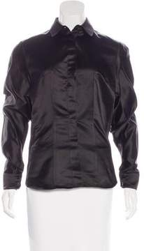 Antonio Berardi Silk Button-Up Top