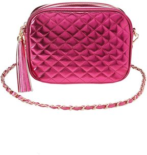 Metallic Quilted Crossbody Bag