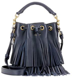 Saint Laurent Small Bucket fringed leather tote