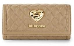 Love Moschino Flap Faux Leather Continental Wallet