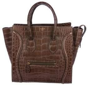 Celine Crocodile Mini Luggage Tote