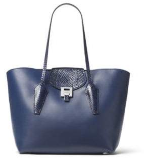 Michael Kors Bancroft Large Leather Tote - SAPPHIRE - STYLE
