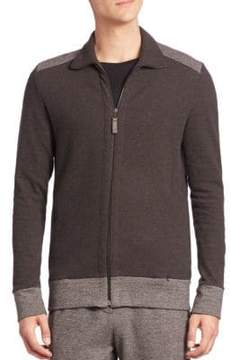 Hanro Davide Herringbone Zip Front Jacket