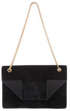 Saint Laurent Suede Betty Bag - BLACK - STYLE