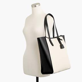 J.Crew Signet tote bag in canvas and Italian leather