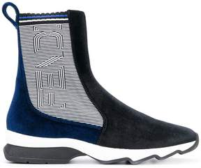 Fendi panelled ankle boots