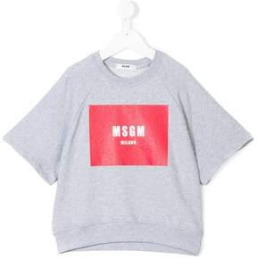MSGM logo print sweatshirt T-shirt