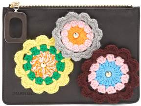 J.W.Anderson Daisies-crochet leather pouch