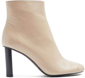 Joseph Ruched block-heel leather ankle boots