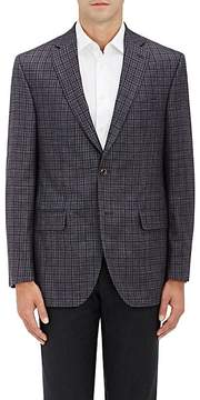 Piattelli MEN'S HOUNDSTOOTH WOOL-BLEND TWO-BUTTON SPORTCOAT