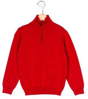Oscar de la Renta Boys' Merino Wool Mock Neck Sweater