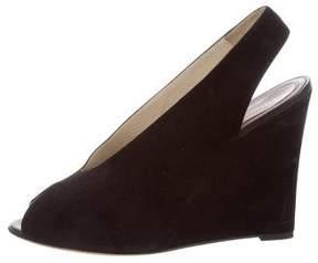 Celine Slingback Wedge Sandals