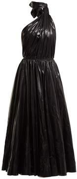 Calvin Klein Tie-neck nylon A-line dress