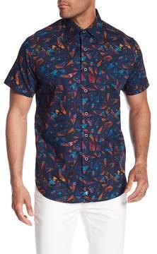 Robert Graham Glenhaven Short Sleeve Print Woven Classic Fit Shirt