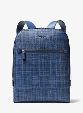 Michael Kors Harrison Crosshatch Leather Backpack