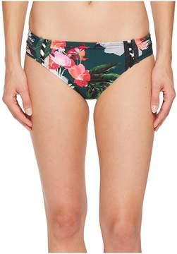 LaBlanca La Blanca Beyond The Jungle Side Shirred Hipster Women's Swimwear
