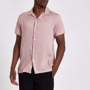 River Island Mens Pink tape short sleeve shirt