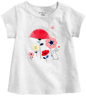 First Impressions Floral-Print Cotton T-Shirt, Baby Girls, Created for Macy's