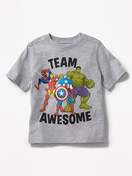 Old Navy Marvel Comics Avengers Team Awesome Tee for Toddler Boys