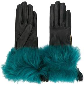 Prada fur trim gloves