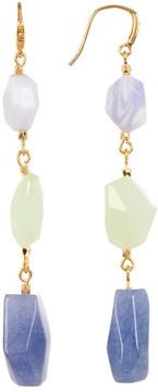 Carolee 12K Linear Mixed Shape Earrings