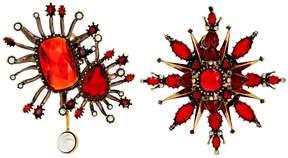 Alexander McQueen Asymmetric oversized stud earrings