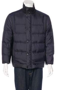 Viktor & Rolf Down-Filled Leather-Trim Jacket