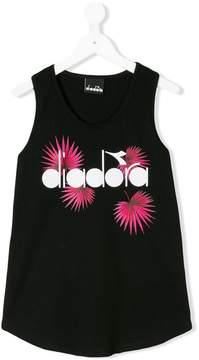 Diadora Junior leaf logo printed tank top