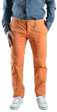 Siviglia Men's Orange Cotton Pants.