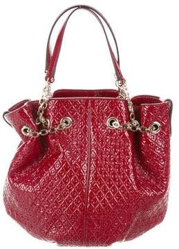 Tod's Embossed Patent Leather Bucket Bag