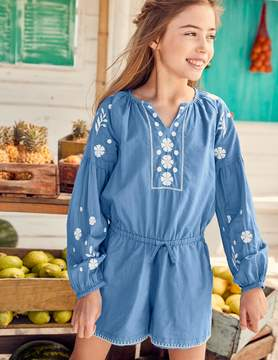 Boden Embroidered Woven Romper
