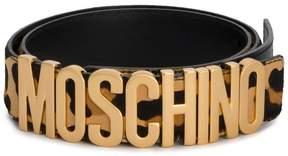 Moschino leopard logo belt