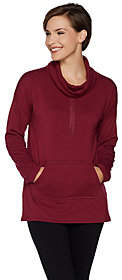 Cuddl Duds As Is Comfortwear French Terry Cowl Nk Swtshrt