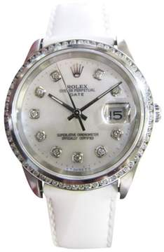 Rolex Oyster Perpetual Date Stainless Steel 34mm Mens Watch