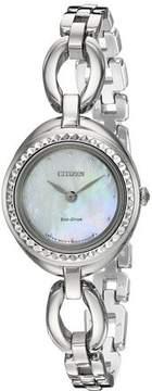 Citizen Silhouette Crystal Ladies Watch EX1440-61D