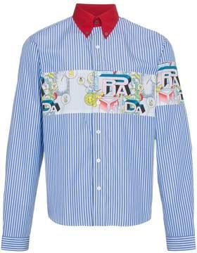 Prada striped comic band shirt