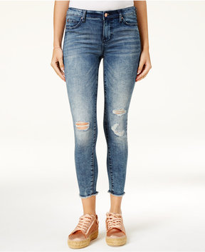 Celebrity Pink Juniors' Super Slimmer Slim Your Thighs Ripped Jeans