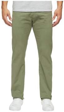 AG Adriano Goldschmied Matchbox Slim Straight Leg Twill in Sulfur Harvest Olive Men's Jeans