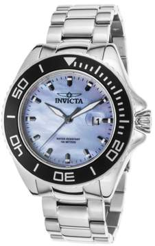 Invicta Men's Pro Diver Stainless Steel Light Blue Mother of Pearl Dial