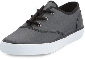 Andrew Marc Neptune Twill Low-Top Sneaker, Black/White