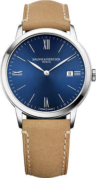 Baume & Mercier M0A10385 My Classima stainless steel and leather watch