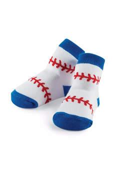 Mud Pie Baseball Print Socks