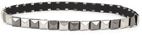 BCBGMAXAZRIA Pyramid-Stud Elastic Waist Belt