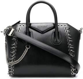Givenchy black Antigona eyelet leather tote