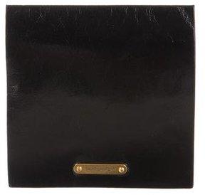 Saint Laurent Logo Leather Pouch - BLACK - STYLE