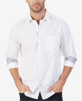 Nautica Men's Classic-Fit Wrinkle-Resistant Anchor-Print Shirt