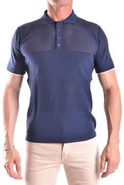 Hosio Men's Blue Viscose Polo Shirt.