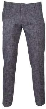 Entre Amis Men's 81881161400 Blue Wool Pants.